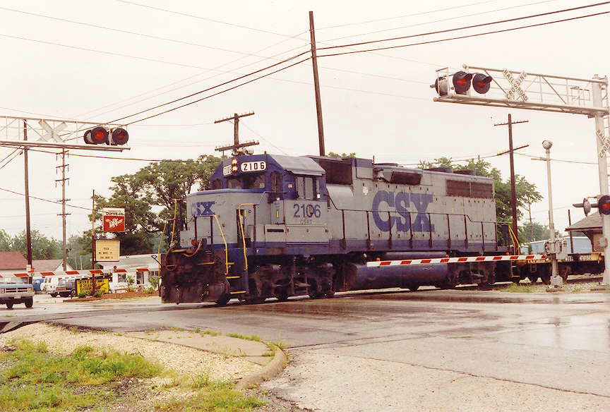 CSX 2106 working as local J710